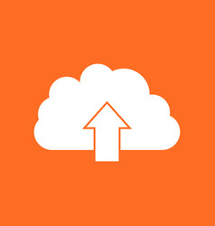 Cloud icon internet download symbol flat on vector