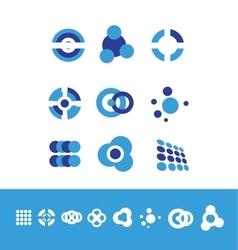 Corporate business logo set circle vector