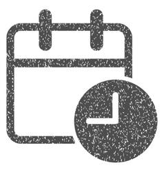 Date time calendar leaf grainy texture icon vector