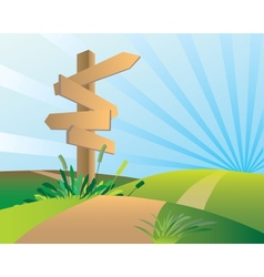 directions sign post vector image vector image