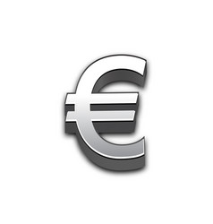 Euro 3d sign isolated vector