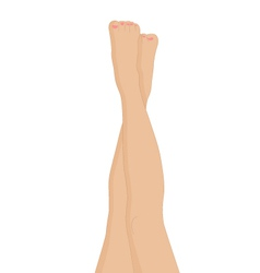 Female legs vector