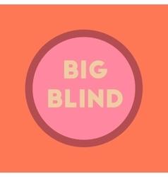 flat icon on stylish background big blind vector image vector image
