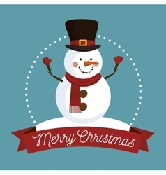 happy merry christmas isolated icon design vector image
