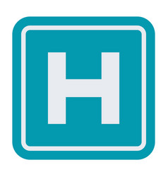 Hospital sign icon vector