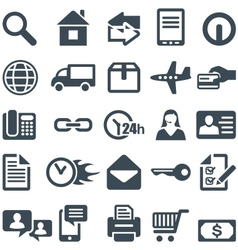 Icons for the web site or mobile app vector image