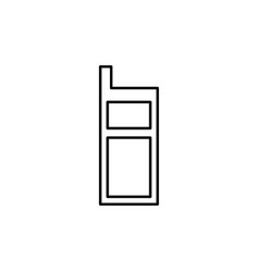 mobile cell phone icon vector image