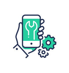 Mobile device repair - modern line design vector