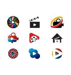Movie logo collection vector