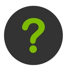 Question flat eco green and gray colors round vector
