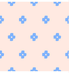 Seamless Cross Shapes Pattern vector image