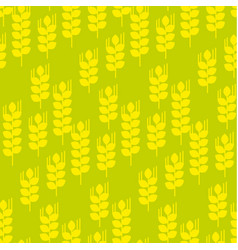 Seamless pattern with wheat ears vector