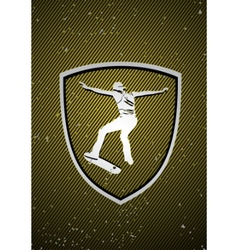 skateboarding badge vector image vector image