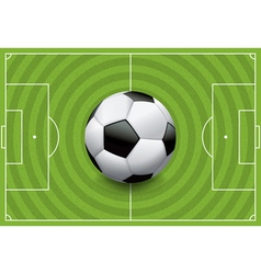 Soccer football field with ball vector