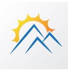Sun with mountains vector image vector image