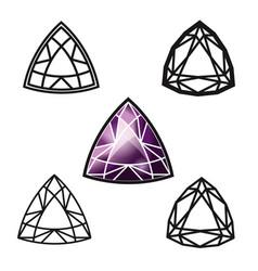Trillion gemstone cut -diamond vector