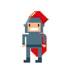 Warrior video game pixelated vector