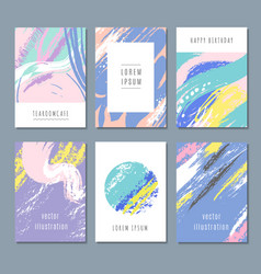 Watercolor pastel abstract backgrounds vector