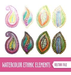 Watercolors Ethnic elements vector image vector image