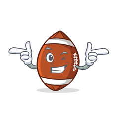 Wink american football character cartoon vector