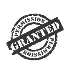 Permission Granted vector image