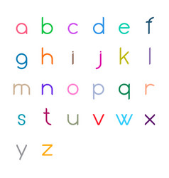 Colorful thin letters vector