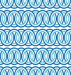 seamless blue circle Chain pattern background vector image