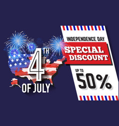 4th of july celebration discount promotion vector