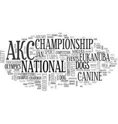 Akc canine olympics slated for january text word vector
