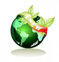 NEW eco banner vector image