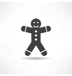 Black gingerbread man vector