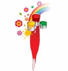 paint rainbow design vector image