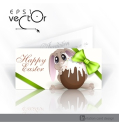 Easter bunny with chocolate egg vector