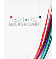 Fresh blue and red wave line vector image