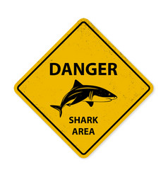 Shark sighting sign vector image