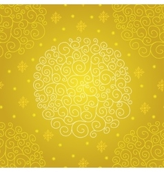 Pattern with christmas ball vector