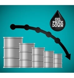 Petroleum and oil prices business vector