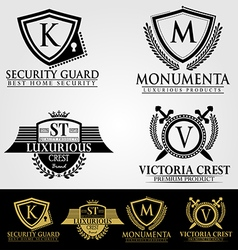 Heraldic crest logos and badges vol 2 vector