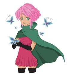 mangagirl vector image