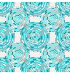 Seamless pattern of circles kaleidoscope vector