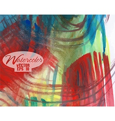 Abstract colorful watercolor vector image vector image