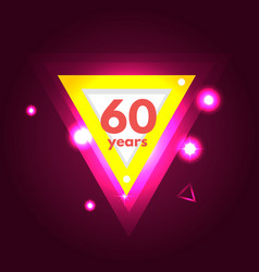 anniversary 60 icon vector image vector image