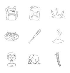 Apocalypse killed survival and other web icon vector