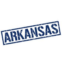 Arkansas blue square stamp vector