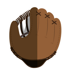 baseball glove equipment icon vector image