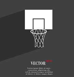 Basketball backboard symbol flat modern web design vector