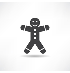 black gingerbread man vector image vector image