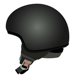 Black police helmet vector image