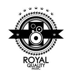Black retro vintage label tag badge royal vector image