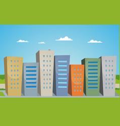 cartoon buildings vector image vector image